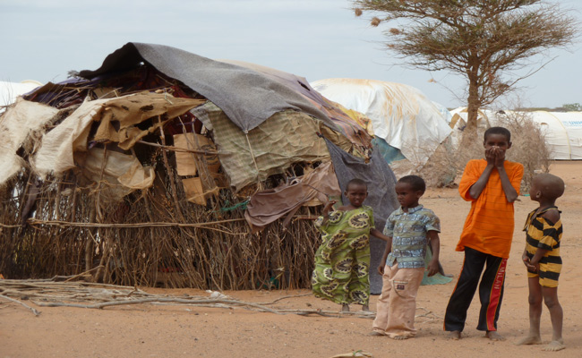 Newly arrived refugee children in Dadaab.