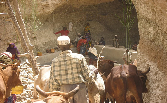 A traditional deep well in the Borana reigion of Ethiopia