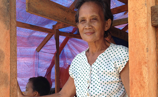 Remedios Petilla is being helped by DEC member CARE International