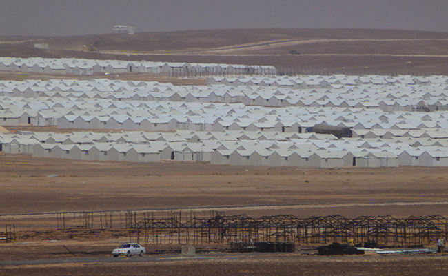 New camp at Afraq has capacity to house up to 100,000 Syrian refugees