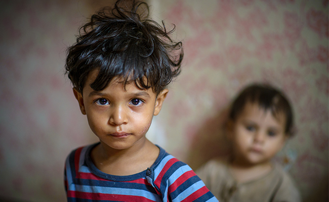 Syrian children living in Jordan neighborhoods