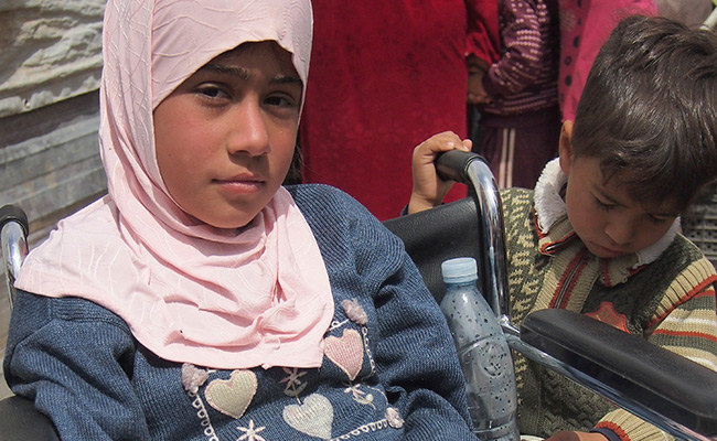 12 year-old Sidra is paralysed from the waist down