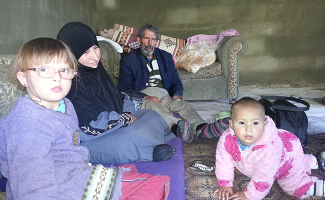 Syrian refugee family living in Lebanon