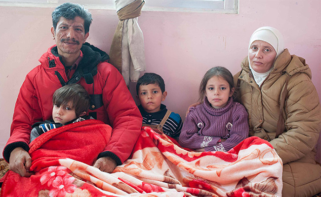 Jalil and his family who had fled Syria after their home was destroyed