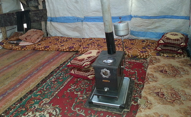 Cooking stove, one of a 1000 given by World Vision to Syrian refugees in Lebanon