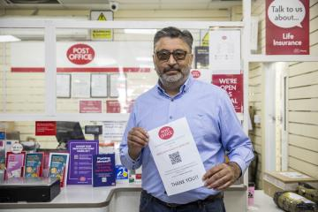 Atul, who has raised over £19,000 for our Coronavirus Appeal, explains how you can donate through your local post office